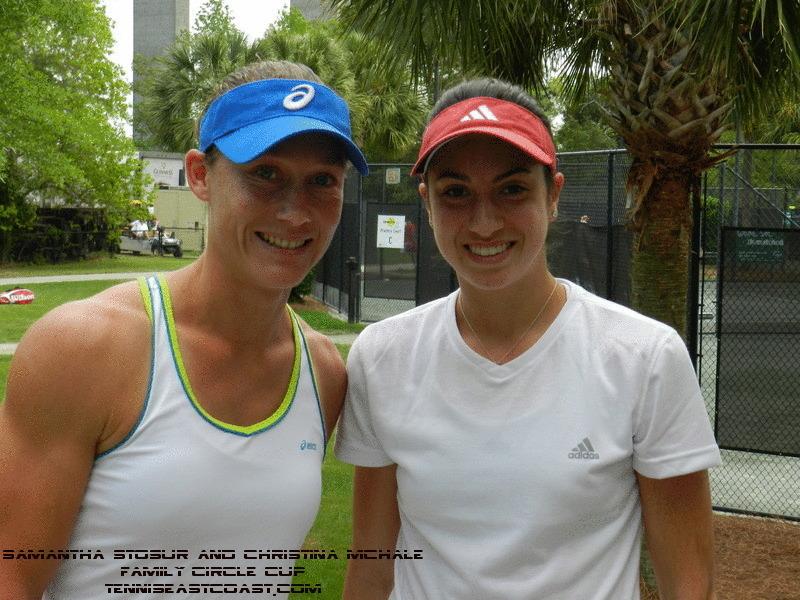 Samantha Stosur and Christina McHale, Family Circle Cup 2012, TennisEastCoast.com