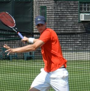 John Isner, ATP Newport, 2012 Copyright TennisEastCoast.com