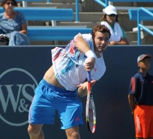 Ernests Gulbis, 2012 ATP Cincinnati,Copyright Courtney Massey