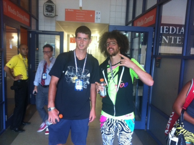 Dennis Novikov with Redfoo (Sorry Dennis)
