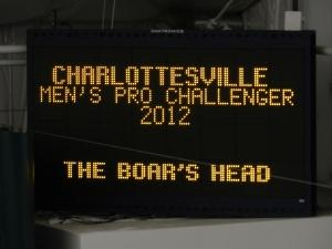 Charlottesville Challenger Scoreboard (Photo: Steve Fogleman)