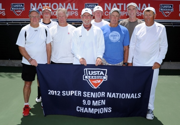 (L to R): Stephen Duffel, Tom Smith, Dale Quigley, Roger Pearce, Marty Pearson, Larry Saheim, Robin Merriman, Hugh Thomson (Photo:USTA)