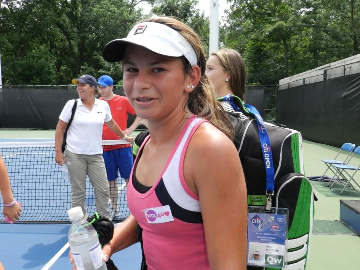 WTA Debutante Usue Arconada (Photo: S. Fogleman)