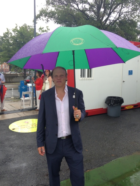 Kastles Owner Mark Ein Sports an SW19 Umbrella