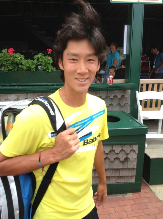 Sugita at Newport 2013, TennisEastCoast.com