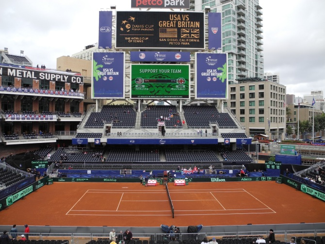 Day 1 Disappointment For US Davis Cup Team at Petco Park