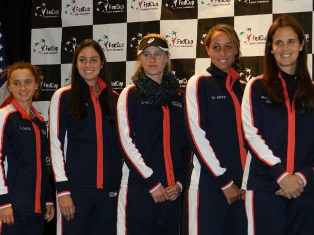 US Fed Cup Team 2014 Cleveland