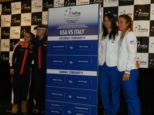 Fed Cup Doubles: Alison Riske, Lauren Davis, Nastassja Burnett, Alice Matteucci