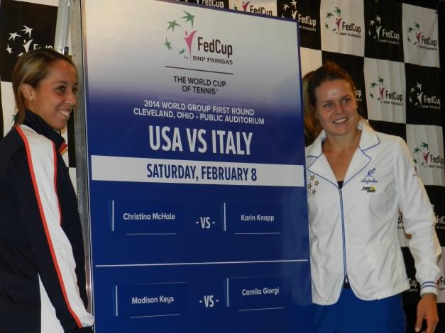 Madison Keys and Karin Knapp