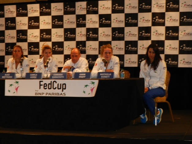 Team Italy with a detached Nastassja Burnett