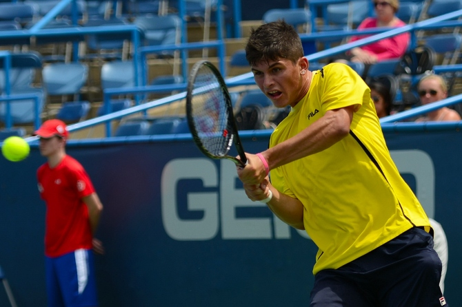 Big Fight From Jordi Arconada of @TheJTCC @CitiOpen Final Round Qualifying