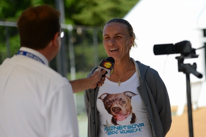 Svetlana Kuznetsova Loves Dogs, Tigers, Elephants and the US Open #CitiOpen #WTA