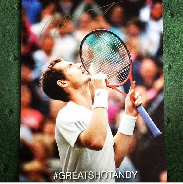 Andy Murray Signed Poster
