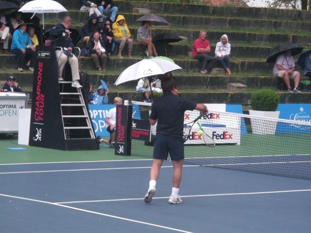 Santoro with his umbrella
