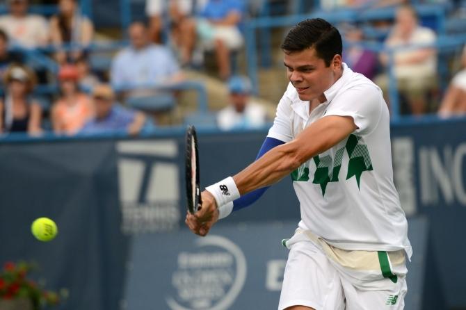 Milos Raonic (Photo: Chris Levy @Tennis_Shots for TennisEastCoast.com)