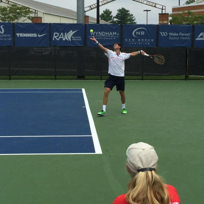 Delbonis with one of the first  big upsets of the tournament