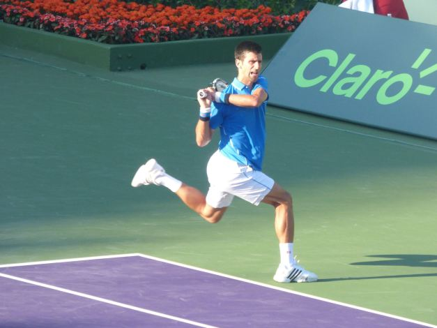 Djokovic baked up another bagel today (Photo Credit: Esam Taha)
