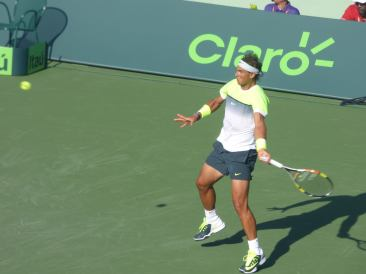 Rafa improved his form to level the match up in set 2 (Photo Credit: Esam Taha)