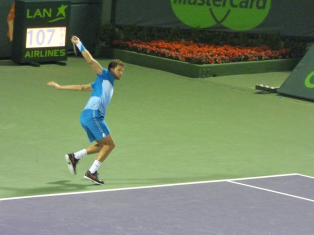 Dimitrov lost the plot by the time the second set rolled around (photo credit: Esam Taha)