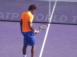 Monfils started strong early (photo credit: Esam Taha)