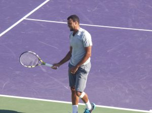 Tsonga struggled with Monfils athleticism and defense on the day (photo credit: Esam Taha)