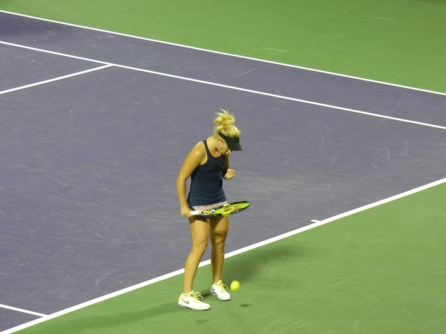 Gavrilova held her nerve in the match (photo credit Esam Taha)