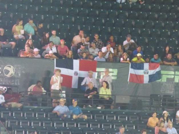 The Dominican Community in Miami made their presence felt cheering on their man Estrella (Photo Credit Esam Taha)
