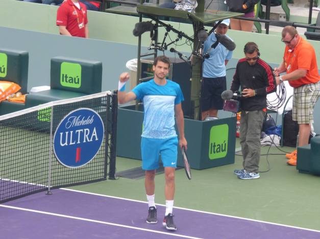 Dimitrov won easily (Photo Credit: Esam Taha)