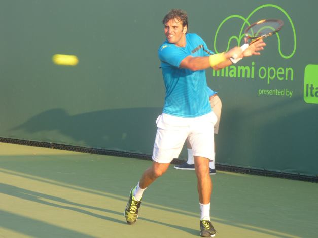 Jaziri lost his nerve in the match (photo credit Esam Taha)