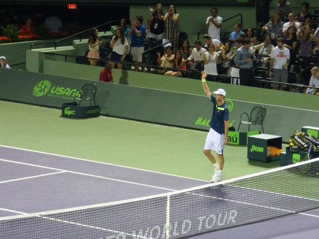 Querrey was a pleased winner on Wednesday night (photo credit: Esam Taha)