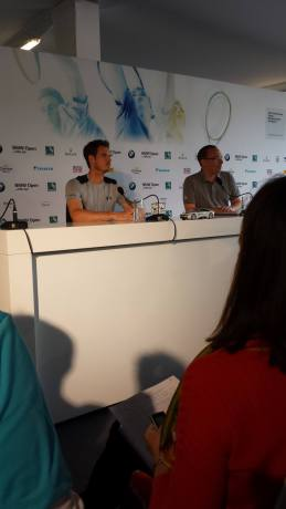 Murray captivated the press in Munich