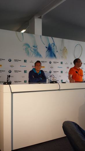 Kohlschreiber spoke with the press today (photo credit: Marc Imperatori)