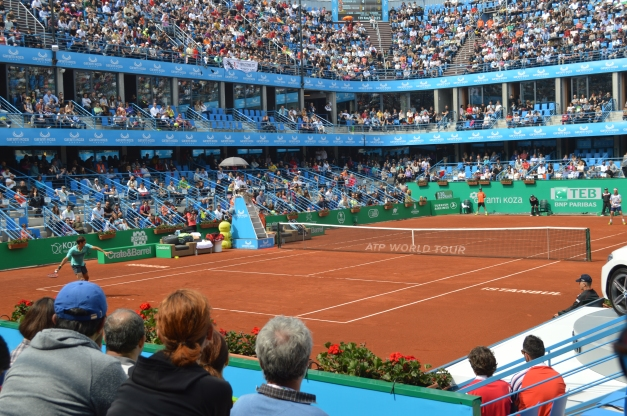 Federer won a tough first set (photo credit; Ahmet Fevzi Guclu)