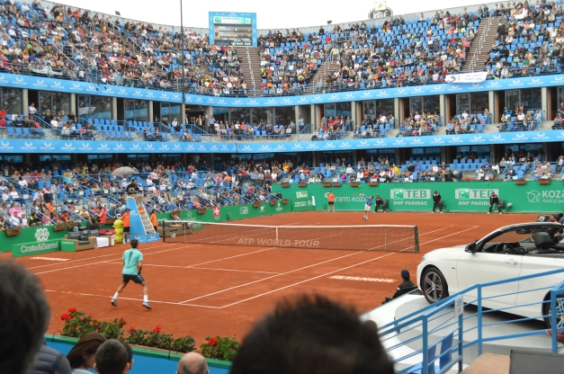 Federer took out a pesky Schwartzman in 3 sets (photo credit: Ahmet Fevzi Guclu)