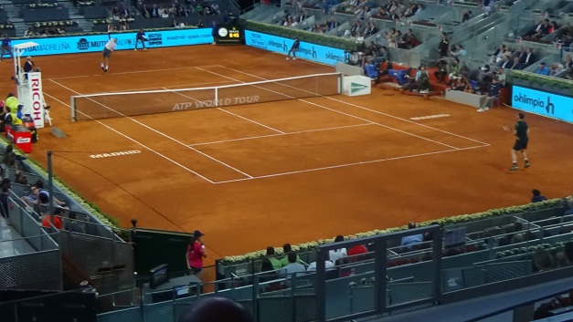Raonic vs. magic Murray (photo credit: Niall Clarke)