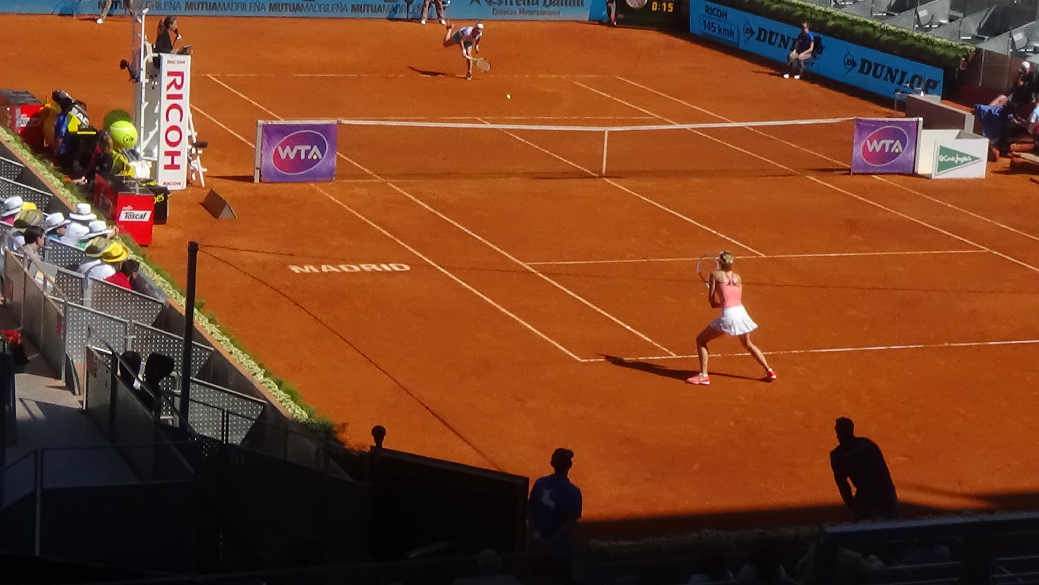 Sharapova vs Kuznetsova Madrid Open 2015