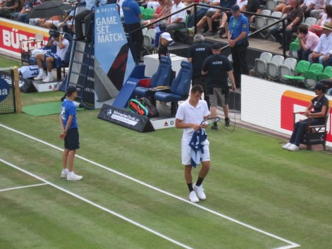 Tomic in action (photo credit: Andreas Thiele)