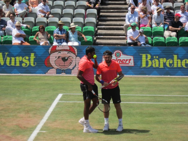 Bopanna and Mergea won the dubs (photo credit: Andreas Thiele)