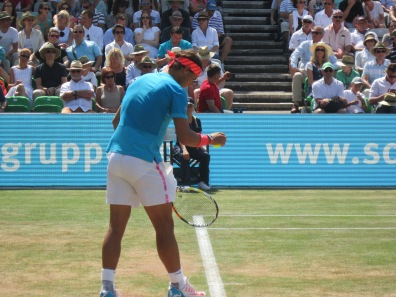 Rafa was clutch on serve (photo credit: Andreas Thiele)