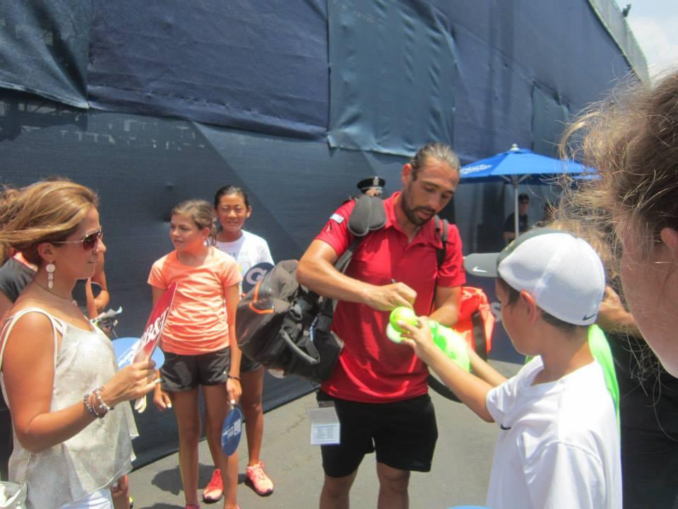 Marcos Baghdatis Signing Autographs 2015 ATP Atlanta
