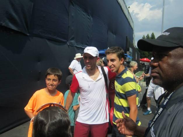 Sela with fans in Atlanta