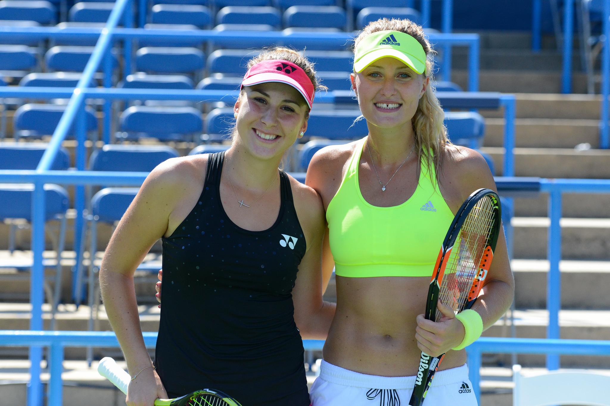 Belinda Bencic & Kiki Mladenovic (Photo: Chris Levy @Tennis_Shots)
