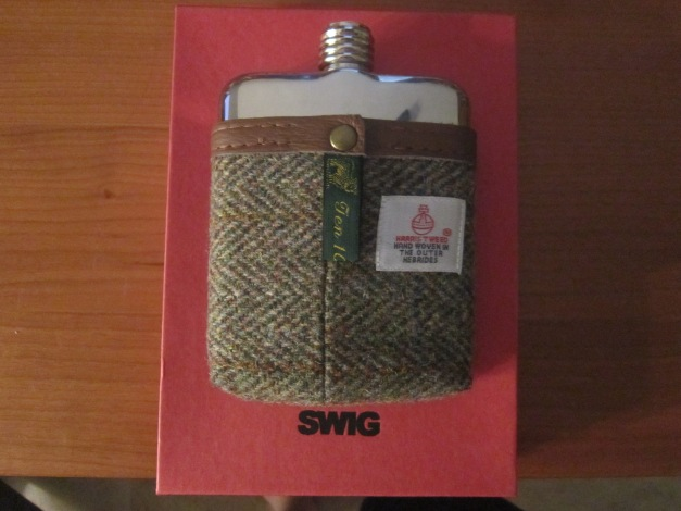 SWIG Harris Tweed Artisan Hip Flask