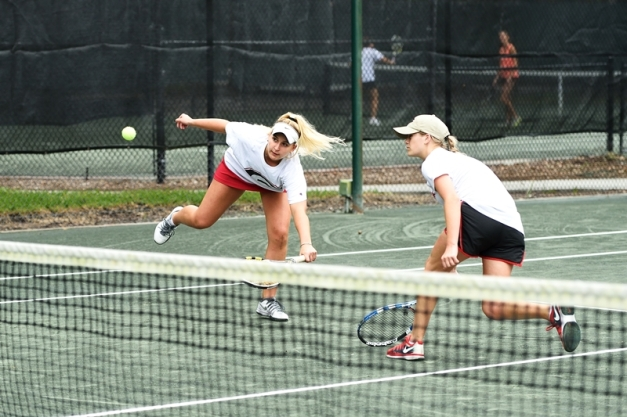 UGA's Sheridan Schuster and Stephanie Grodecki (Photo: Peter Staples)