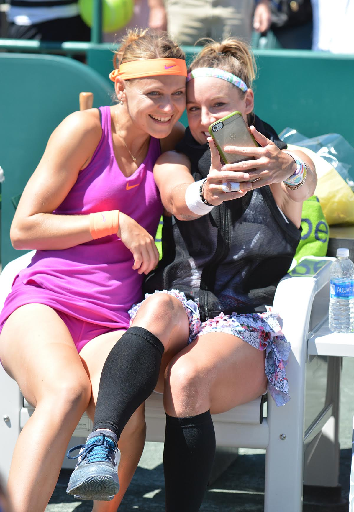 Bethanie Mattek-Sands and Lucie Safarova, 2017 Volvo Car Open (Photo: Tony Callaio)