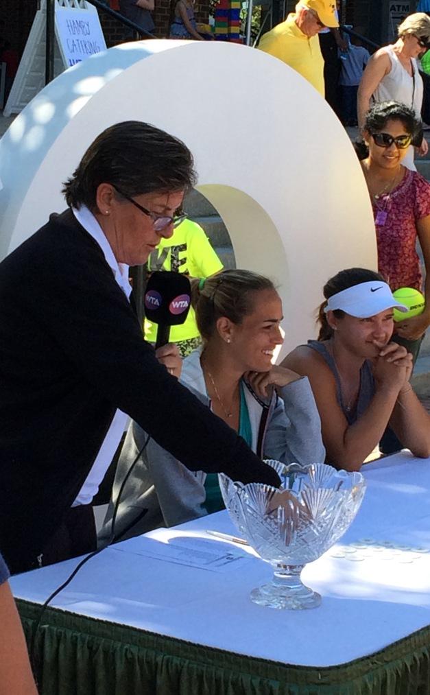Draw Ceremony, Monica Puig, Charleston 2017 (TennisAtlantic.com)