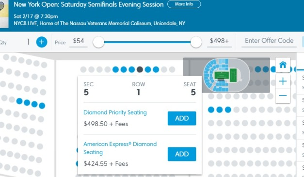 Tickets New York Open Saturday Semifinals Evening Session Uniondale NY at Ticketmaster