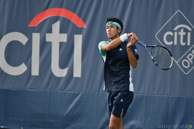 Yosuke Watanuki, 2018 Citi Open (Photo: Mike Renz for Tennis Atlantic)