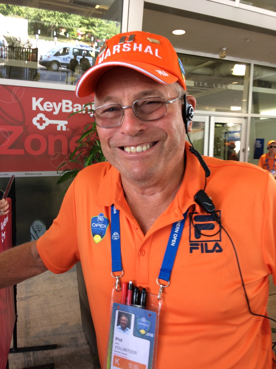 The Marshal Plan: Phil Hinkle is in the Zone at the @CincyTennis Fan Zone
