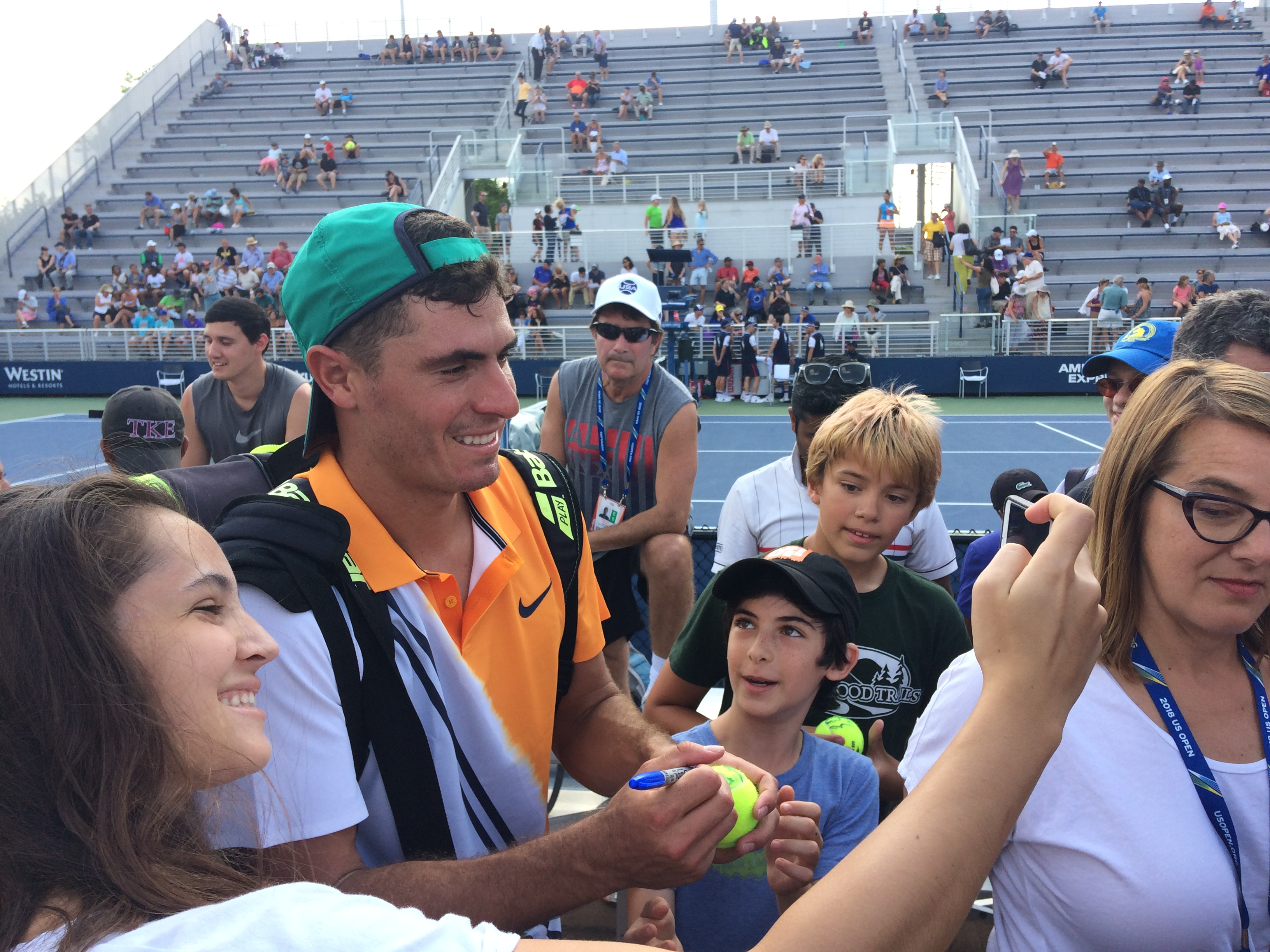 Ernesto Escobedo, 2018 US Open (Photo: Tennis Atlantic.com)